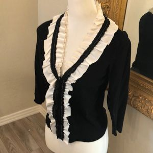 WHBM Sweater with ruffle detail